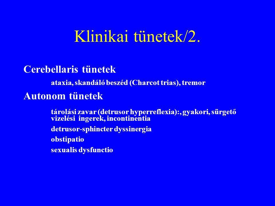 Klinikai tünetek/2. Cerebellaris tünetek Autonom tünetek