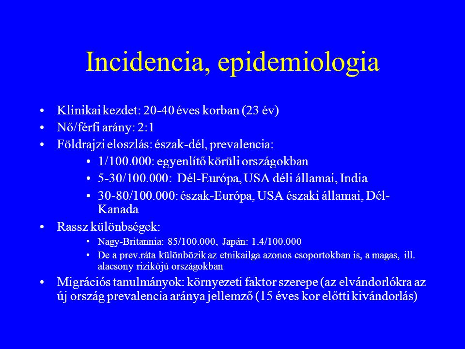 Incidencia, epidemiologia