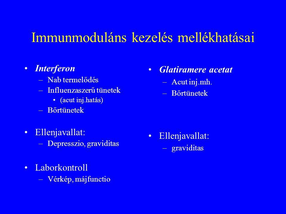Immunmoduláns kezelés mellékhatásai
