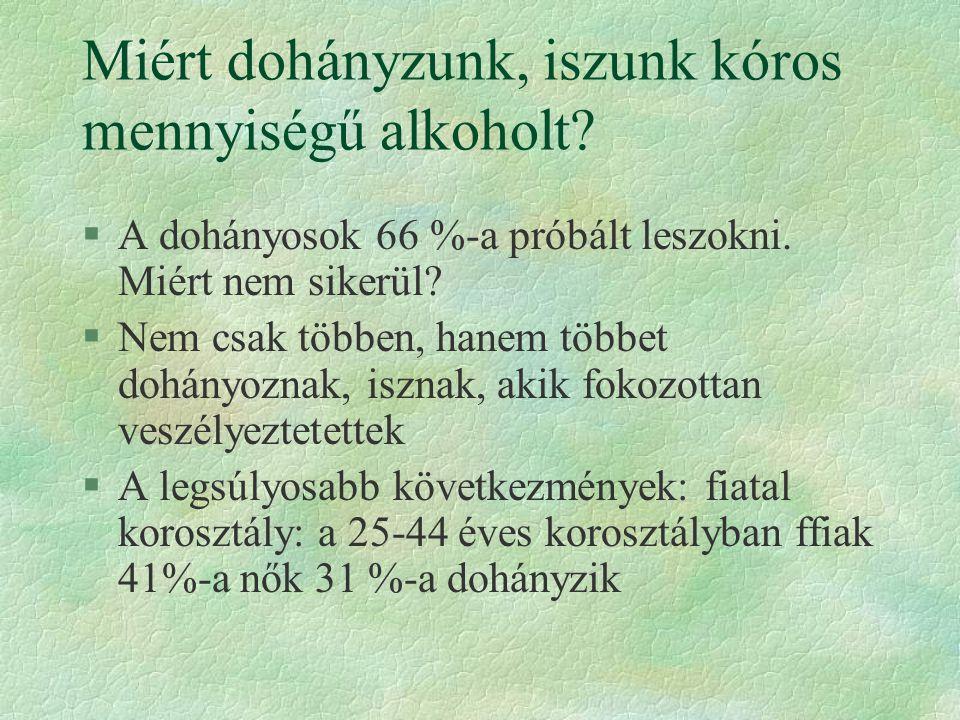 Miért dohányzunk, iszunk kóros mennyiségű alkoholt