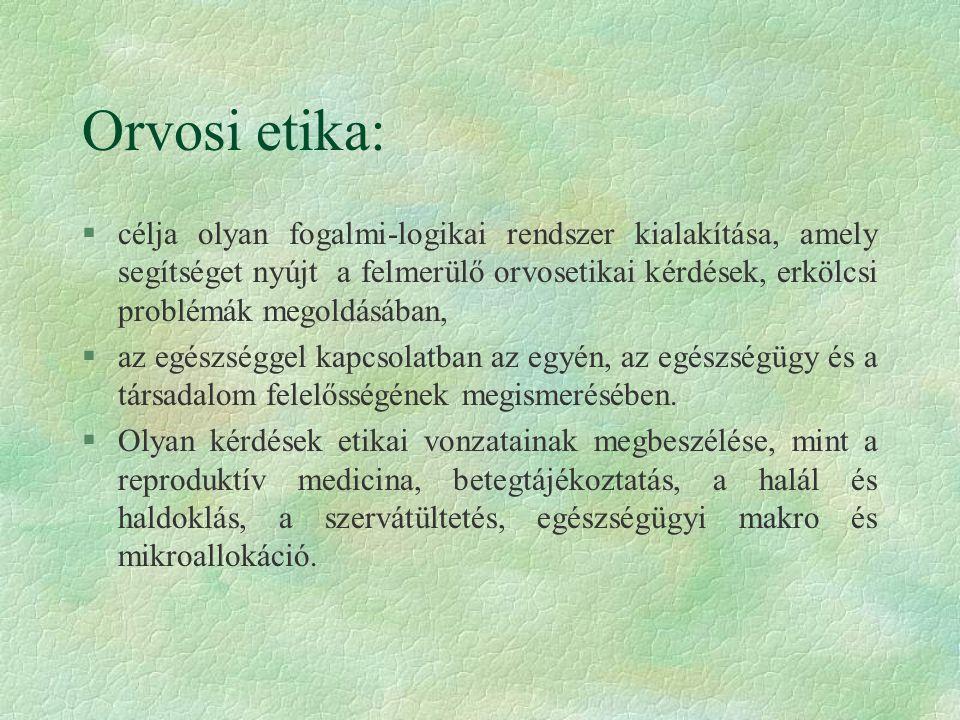 Orvosi etika: