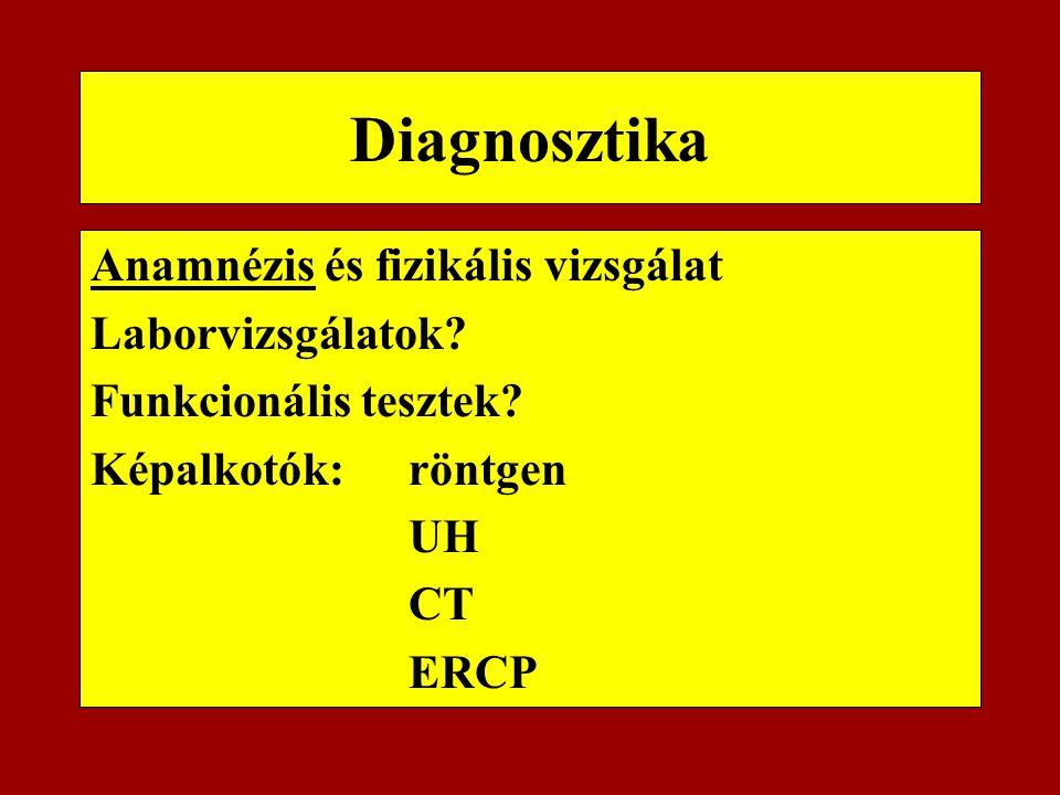Diagnosztika Anamnézis és fizikális vizsgálat Laborvizsgálatok
