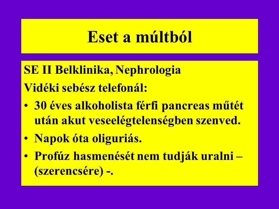 Eset a múltból SE II Belklinika, Nephrologia Vidéki sebész telefonál: