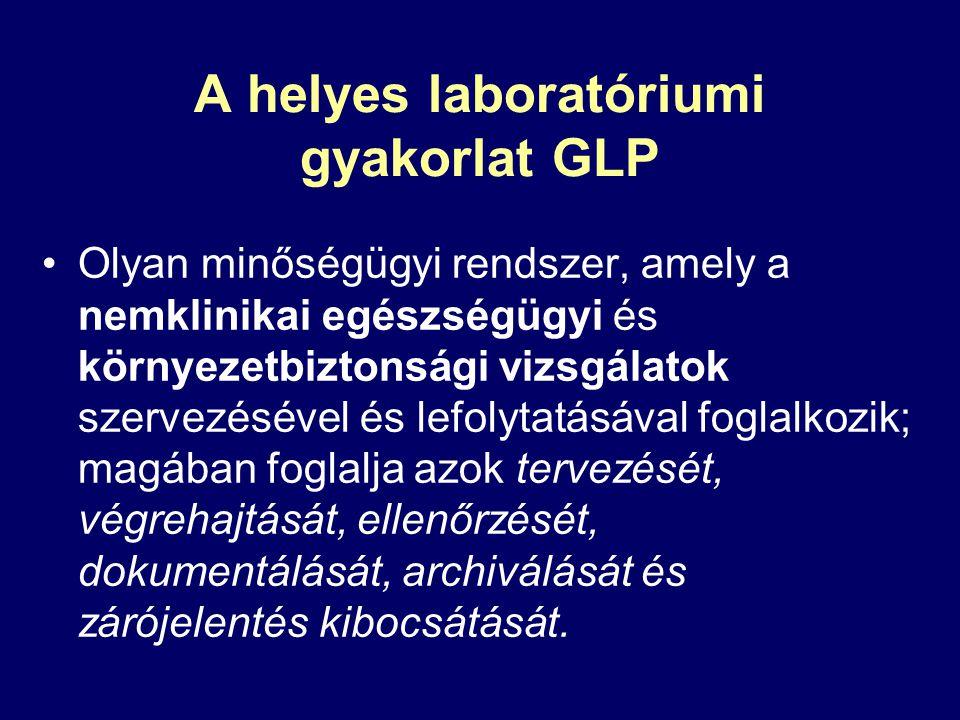 A helyes laboratóriumi gyakorlat GLP