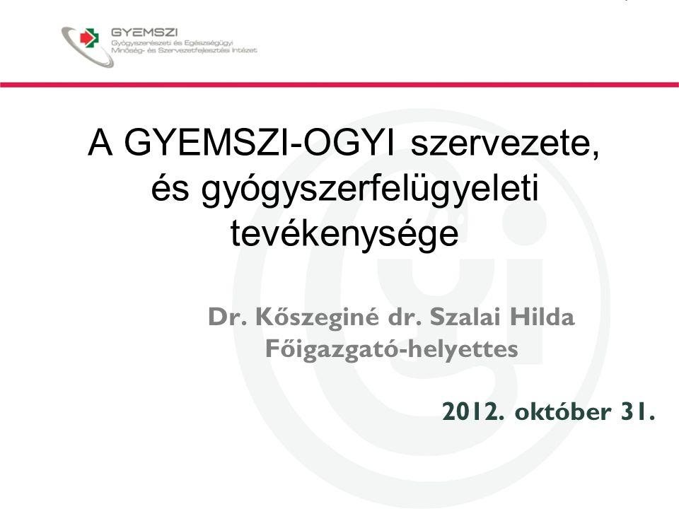 A GYEMSZI-OGYI szervezete, és gyógyszerfelügyeleti tevékenysége