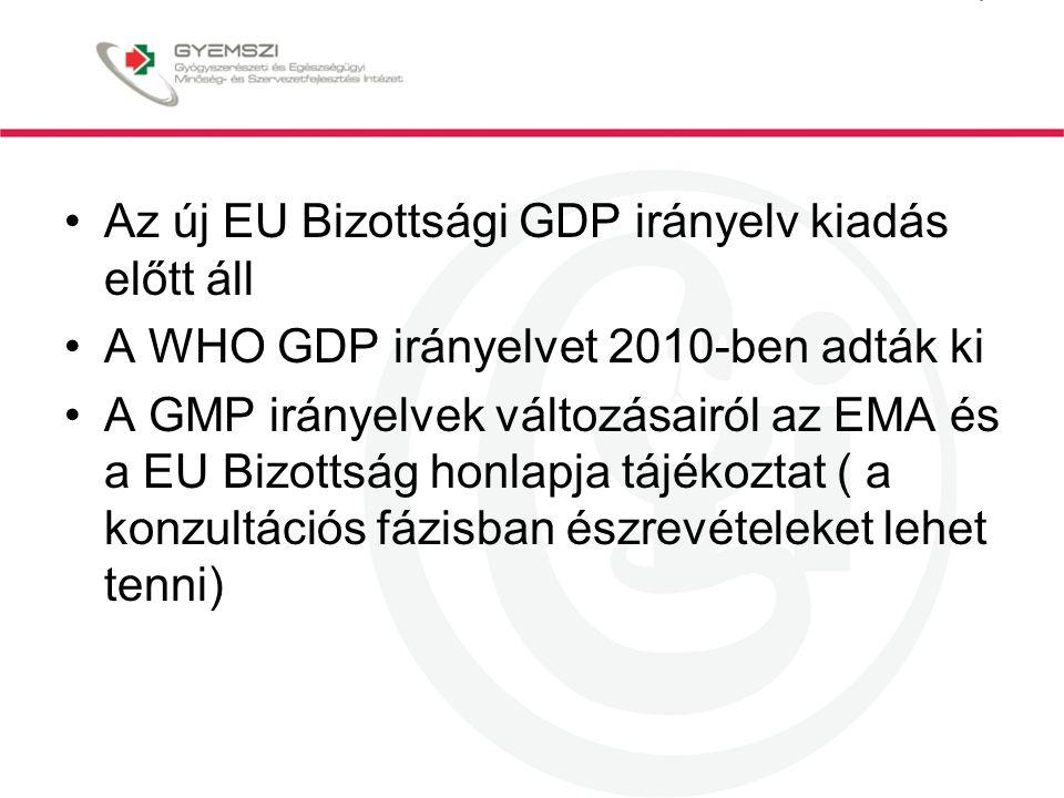 Az új EU Bizottsági GDP irányelv kiadás előtt áll