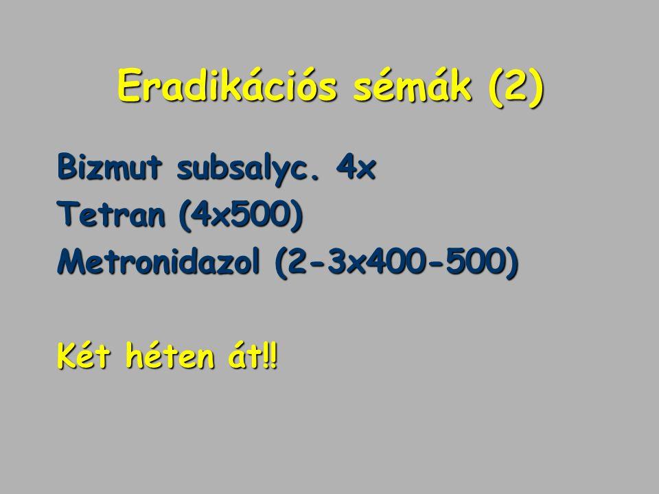 Eradikációs sémák (2) Bizmut subsalyc. 4x Tetran (4x500)