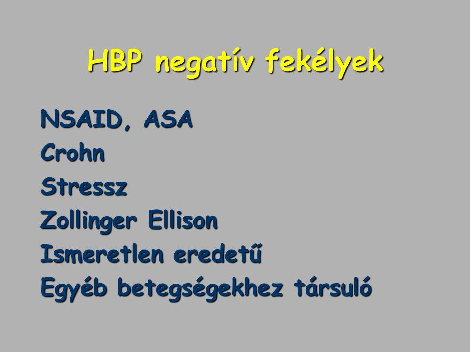 HBP negatív fekélyek NSAID, ASA Crohn Stressz Zollinger Ellison