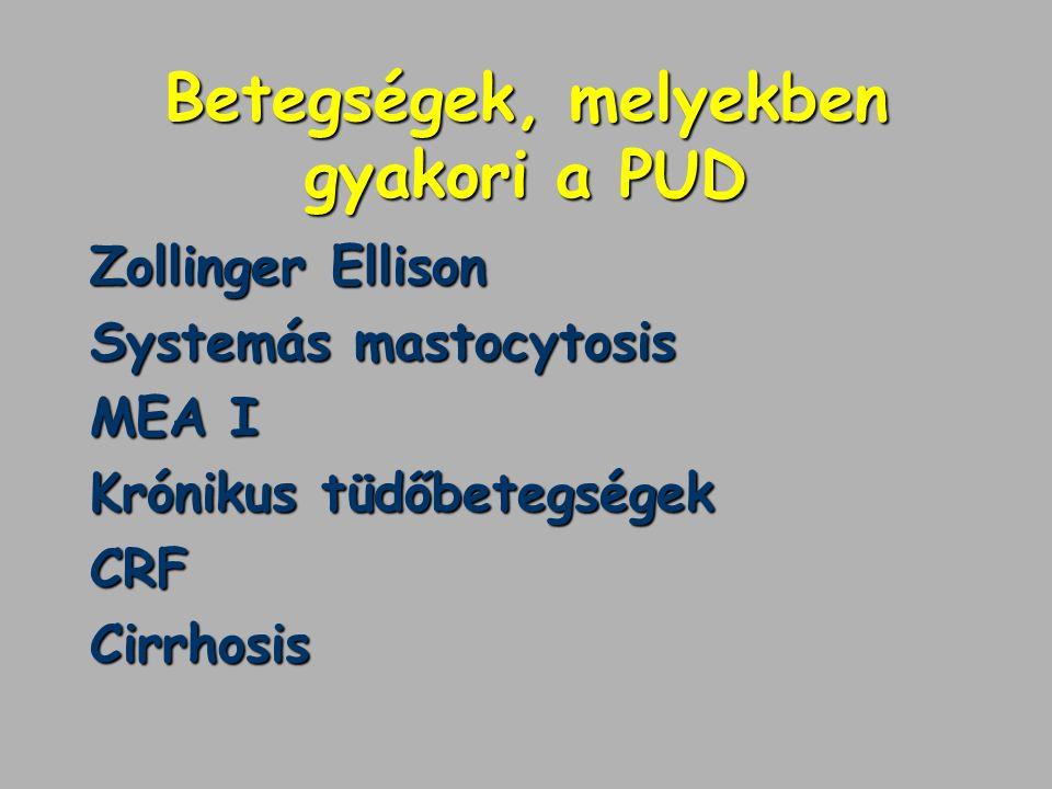 Betegségek, melyekben gyakori a PUD