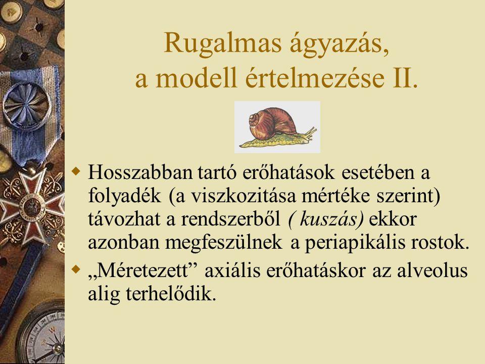 Rugalmas ágyazás, a modell értelmezése II.