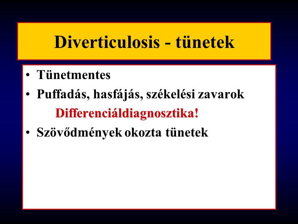 Diverticulosis - tünetek