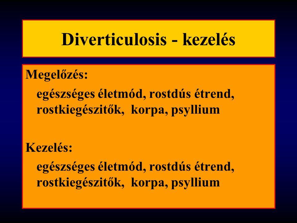 Diverticulosis - kezelés