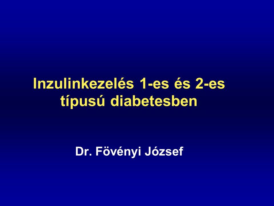 Inzulinkezelés 1-es és 2-es típusú diabetesben Dr. Fövényi József