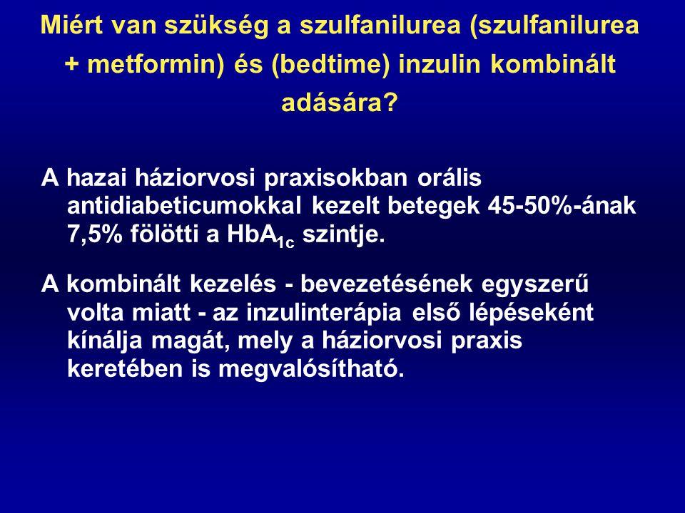 Miért van szükség a szulfanilurea (szulfanilurea + metformin) és (bedtime) inzulin kombinált adására