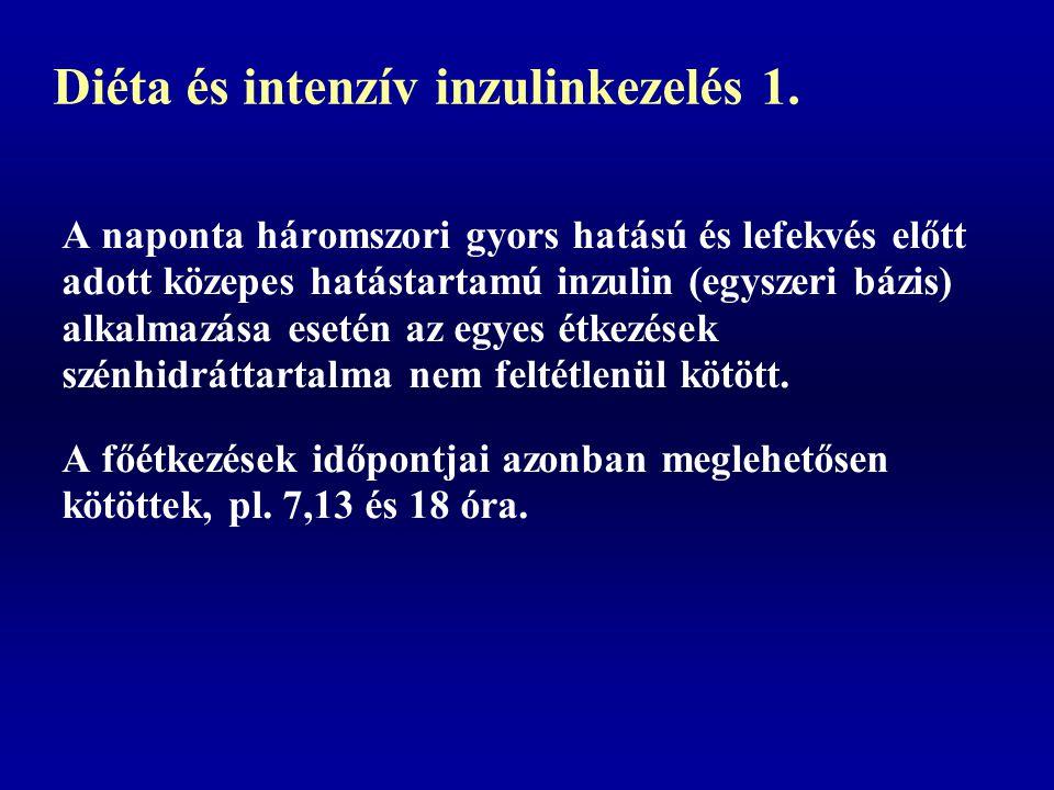 Diéta és intenzív inzulinkezelés 1.