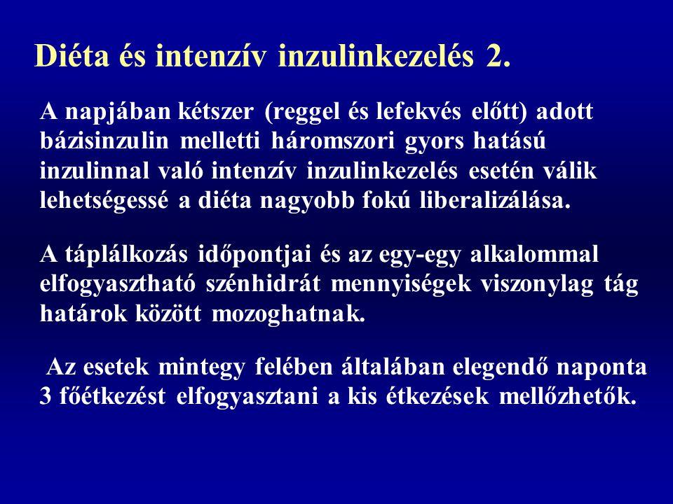 Diéta és intenzív inzulinkezelés 2.