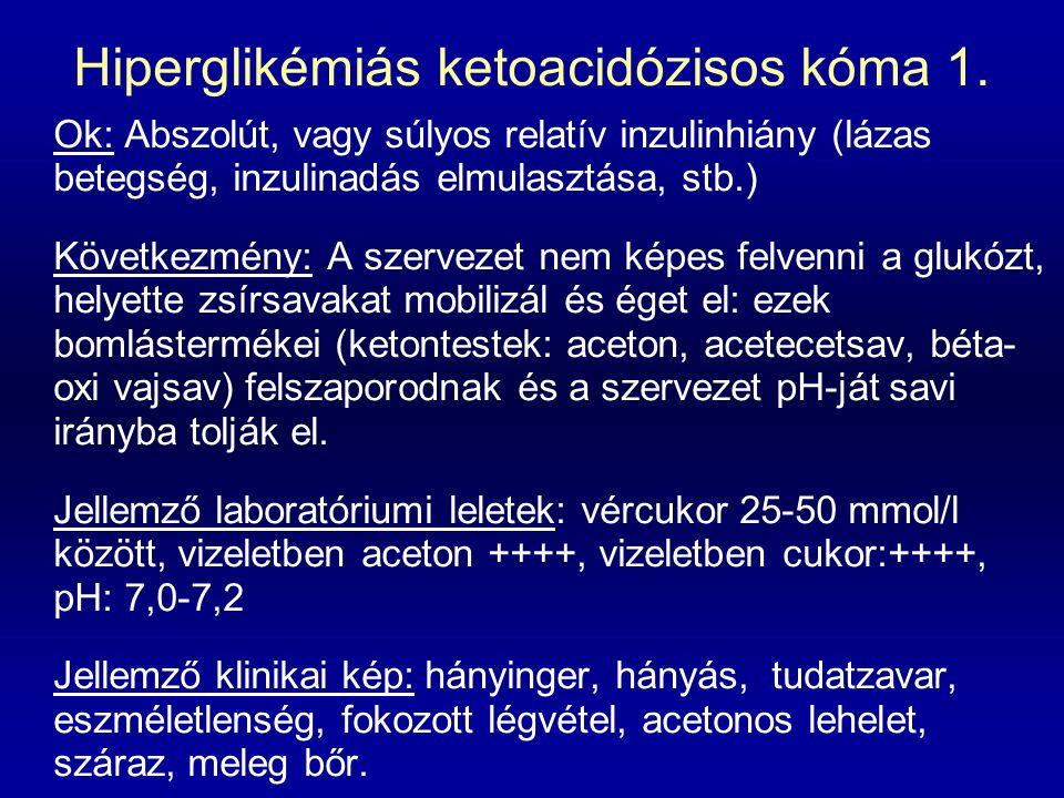 Hiperglikémiás ketoacidózisos kóma 1.