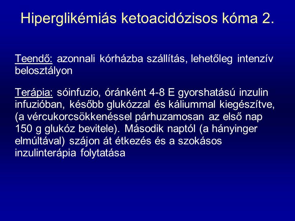 Hiperglikémiás ketoacidózisos kóma 2.
