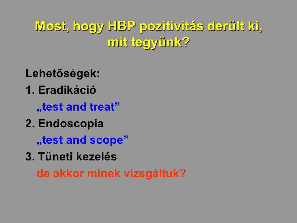 Most, hogy HBP pozitivitás derült ki, mit tegyünk