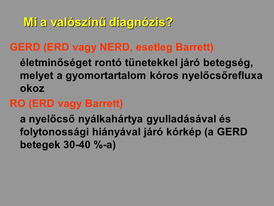 Mi a valószínű diagnózis