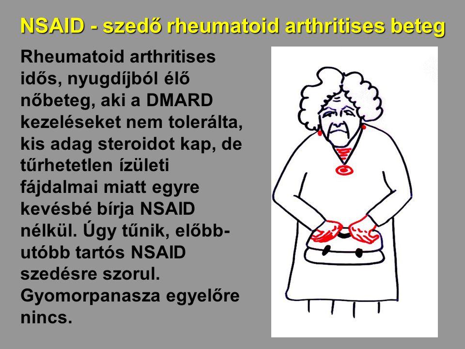 NSAID - szedő rheumatoid arthritises beteg