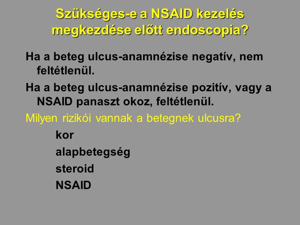 Szükséges-e a NSAID kezelés megkezdése előtt endoscopia