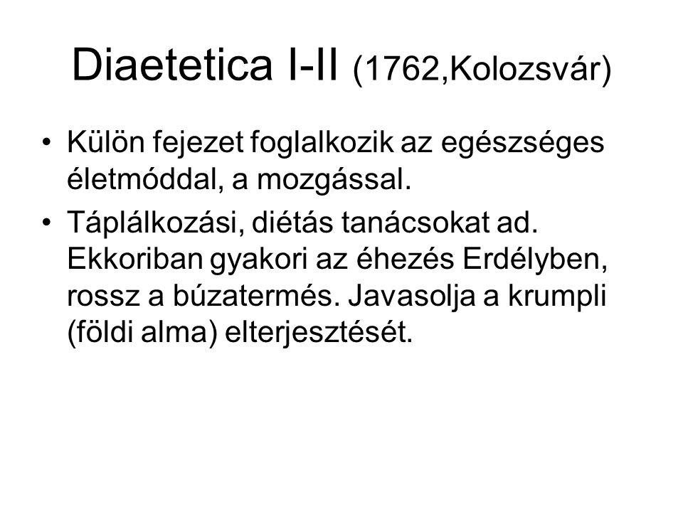 Diaetetica I-II (1762,Kolozsvár)