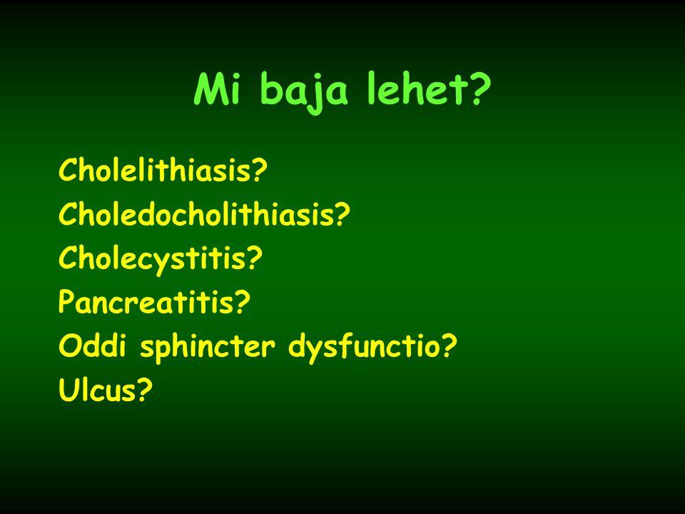 Mi baja lehet Cholelithiasis Choledocholithiasis Cholecystitis
