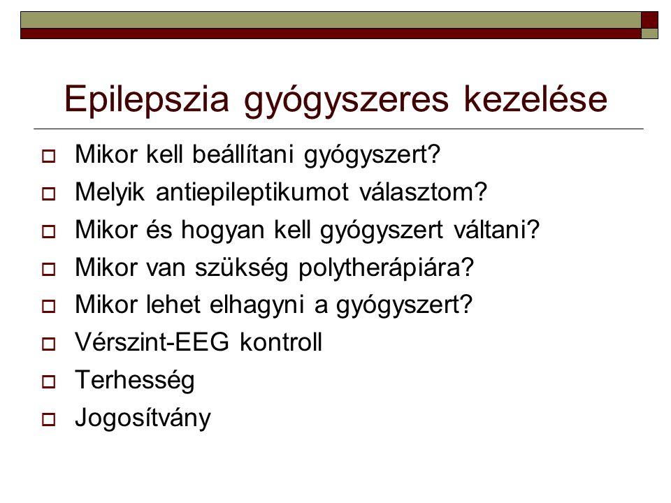 Epilepszia gyógyszeres kezelése