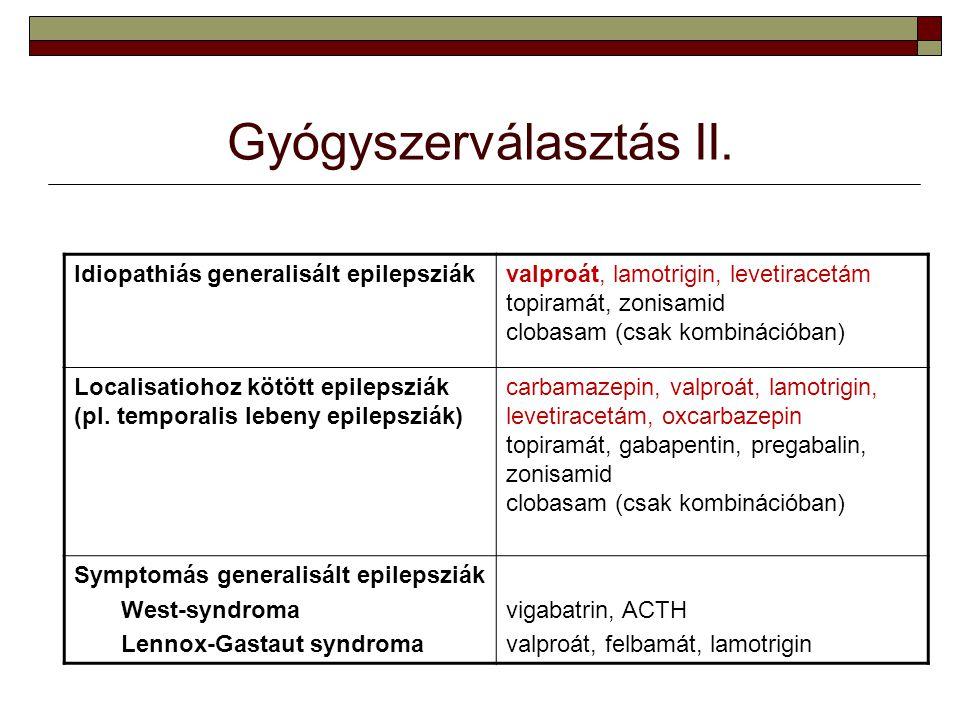 Gyógyszerválasztás II.