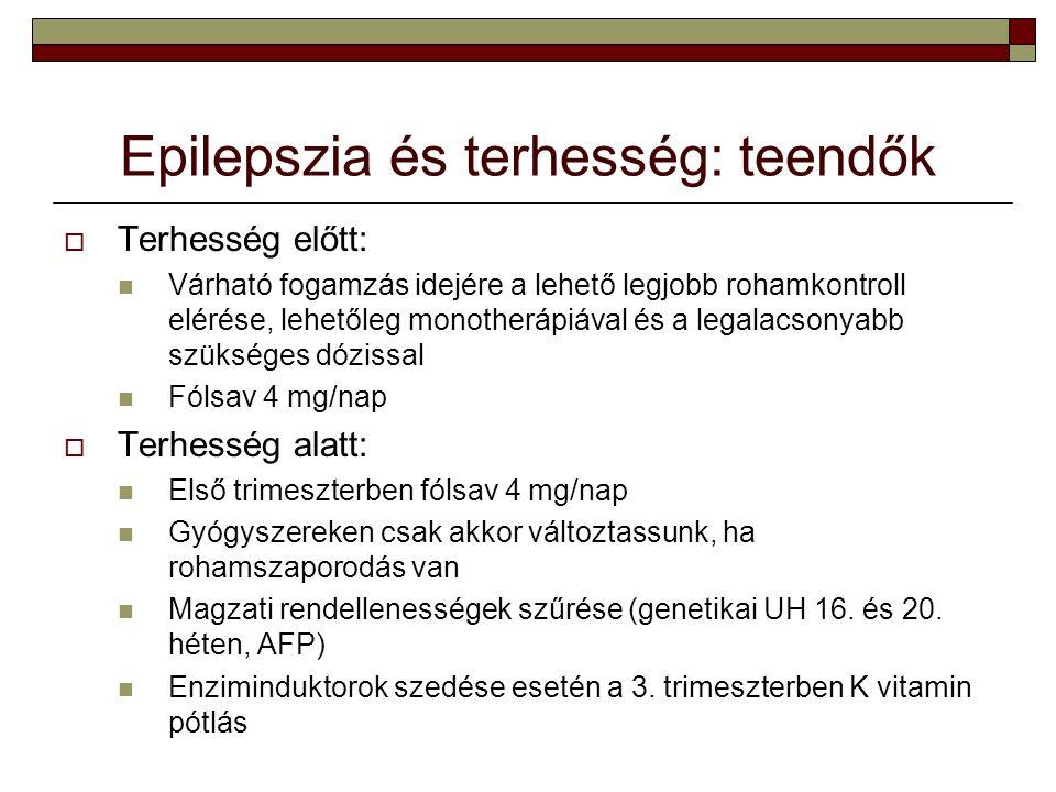 Epilepszia és terhesség: teendők