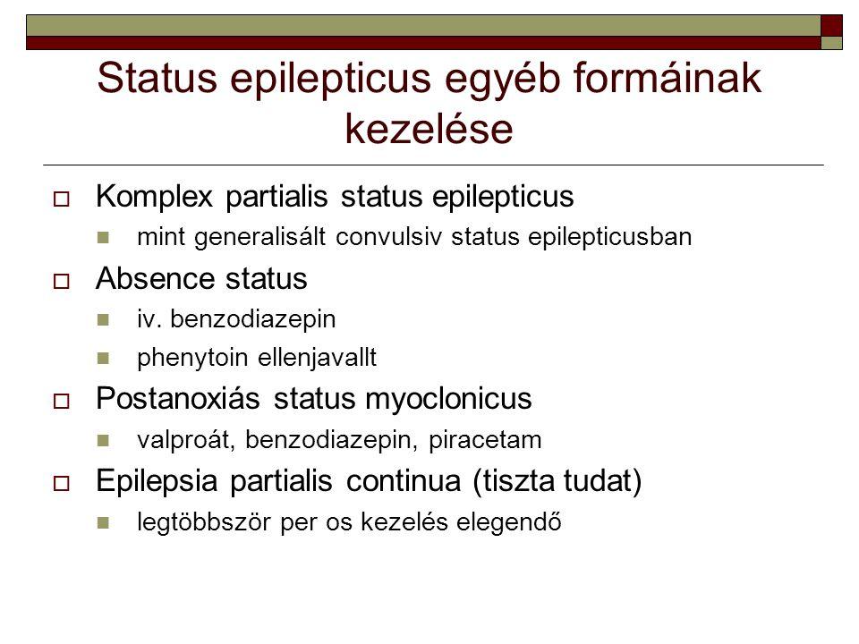 Status epilepticus egyéb formáinak kezelése