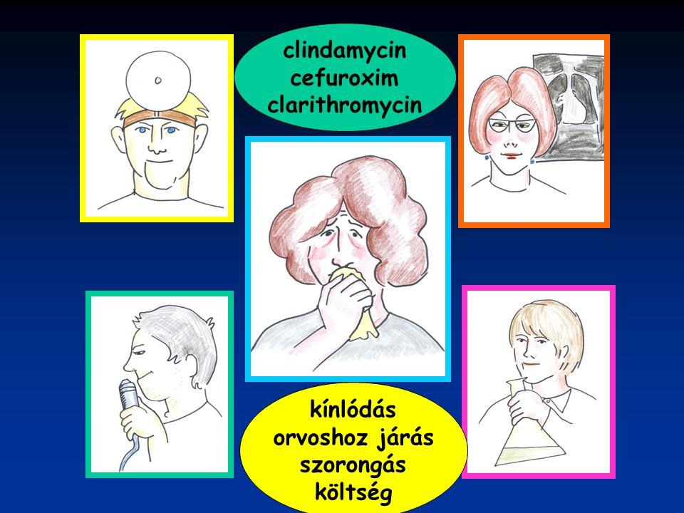 clindamycin cefuroxim clarithromycin kínlódás orvoshoz járás szorongás költség