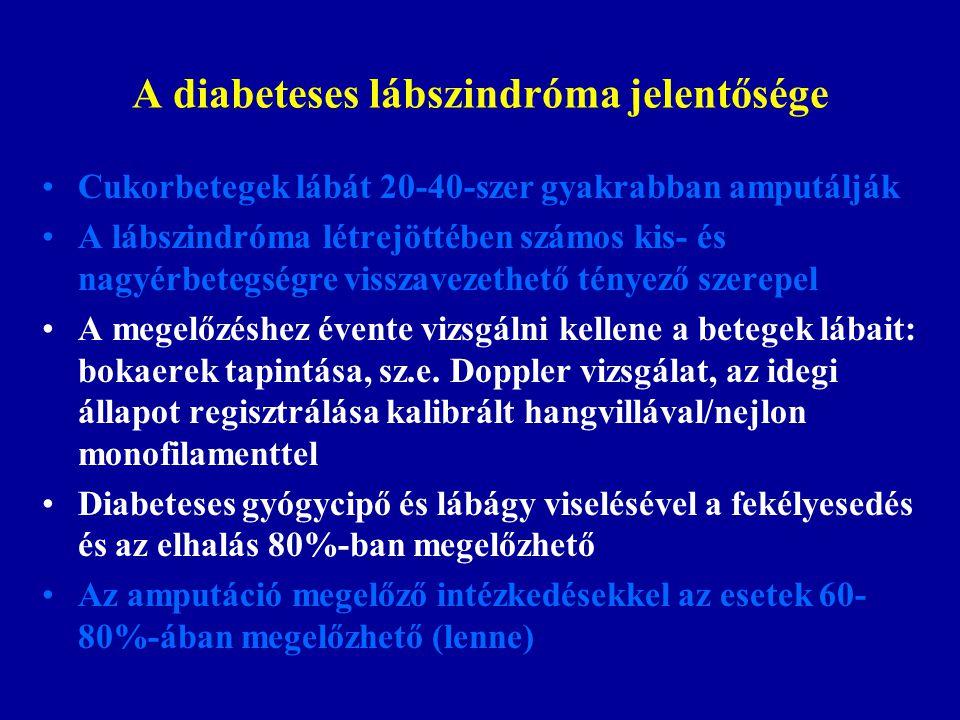 A diabeteses lábszindróma jelentősége