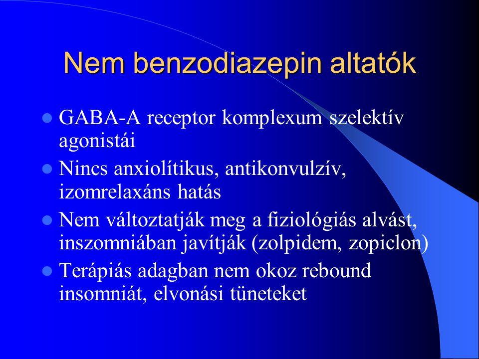 Nem benzodiazepin altatók