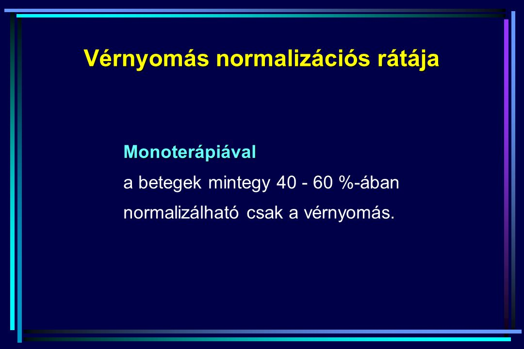 Vérnyomás normalizációs rátája