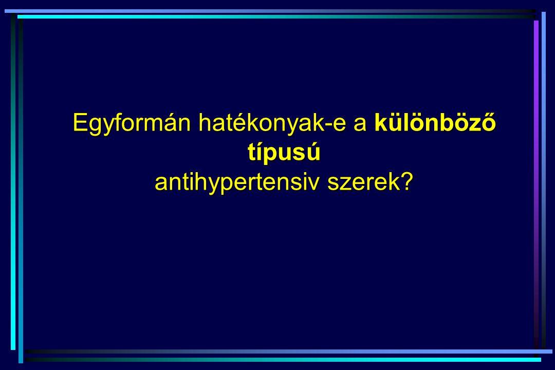Egyformán hatékonyak-e a különböző típusú antihypertensiv szerek