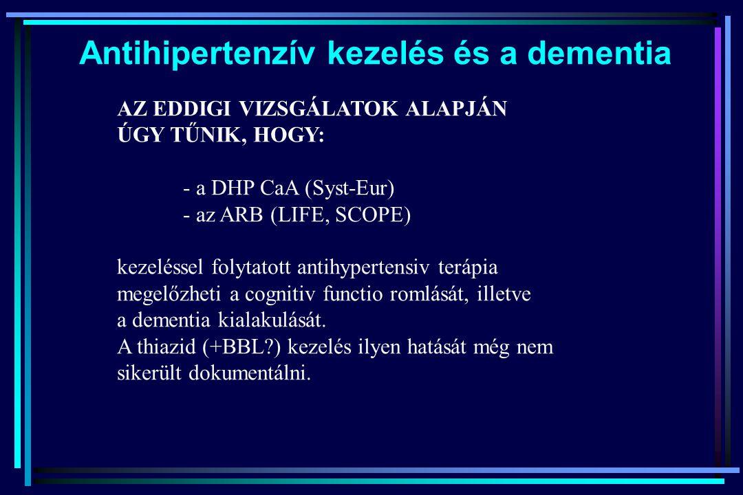 Antihipertenzív kezelés és a dementia