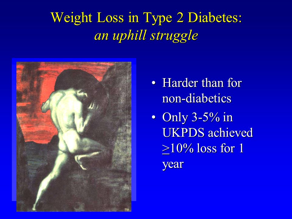 Weight Loss in Type 2 Diabetes: an uphill struggle