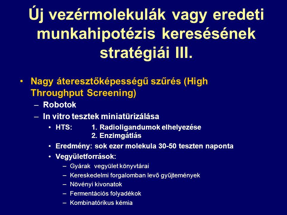 Új vezérmolekulák vagy eredeti munkahipotézis keresésének stratégiái III.
