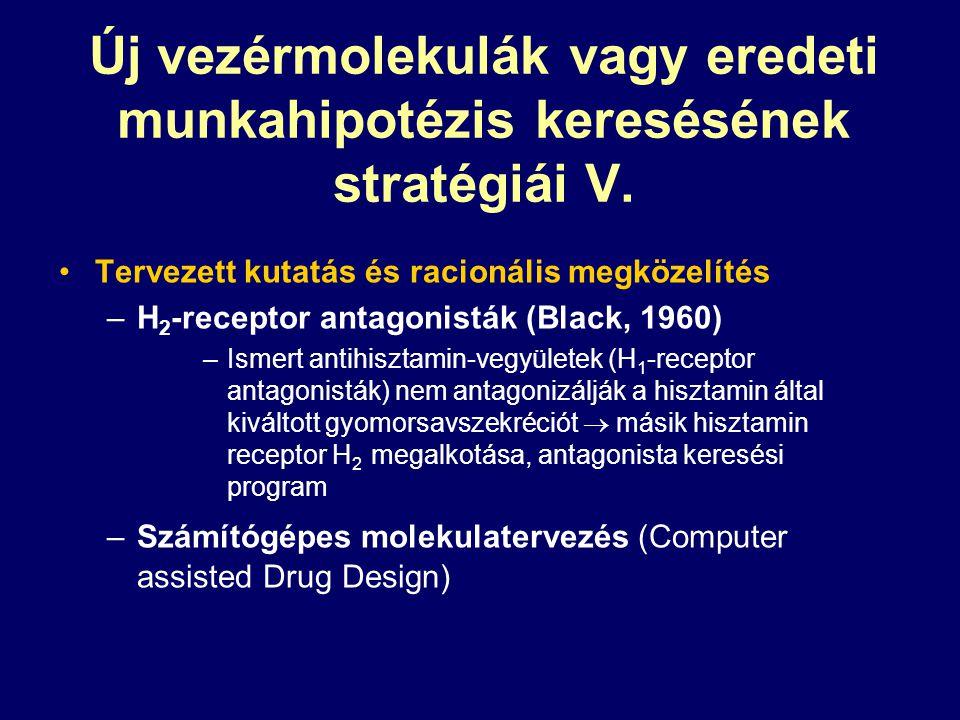 Új vezérmolekulák vagy eredeti munkahipotézis keresésének stratégiái V.