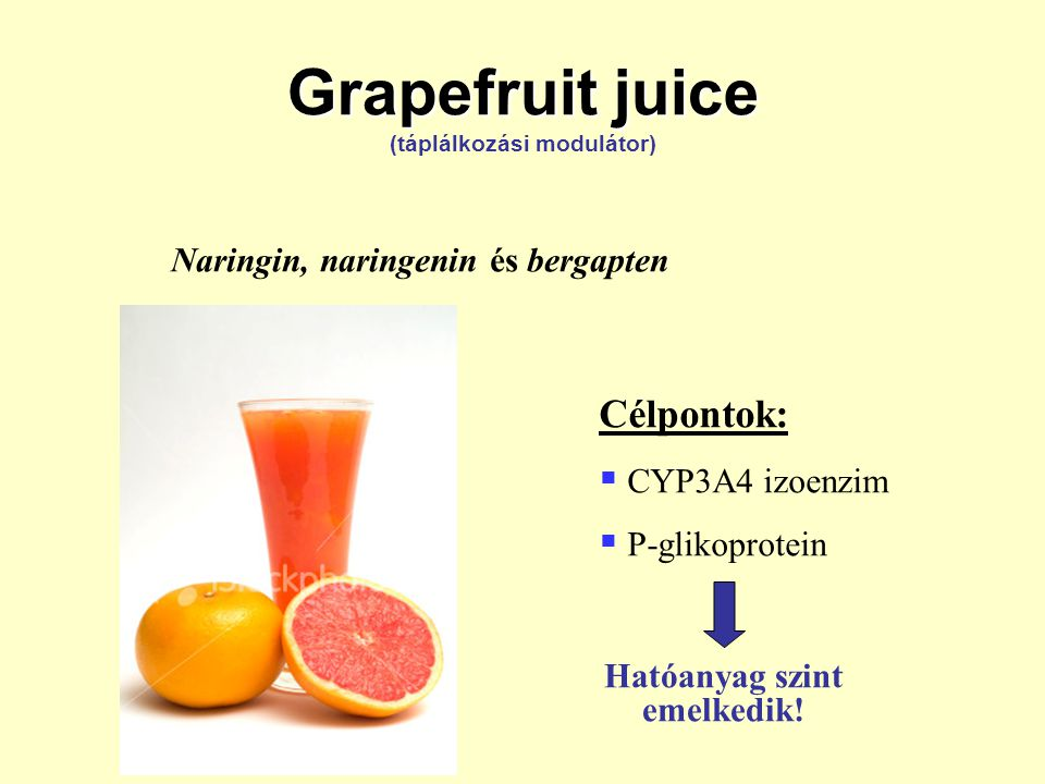 Grapefruit juice (táplálkozási modulátor)