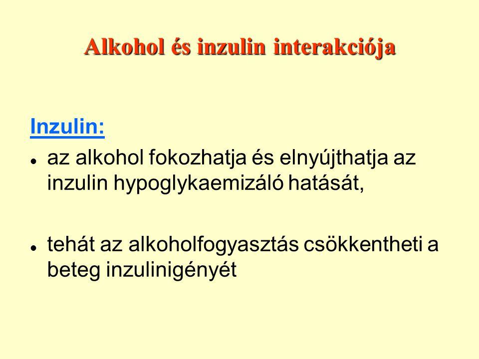 Alkohol és inzulin interakciója