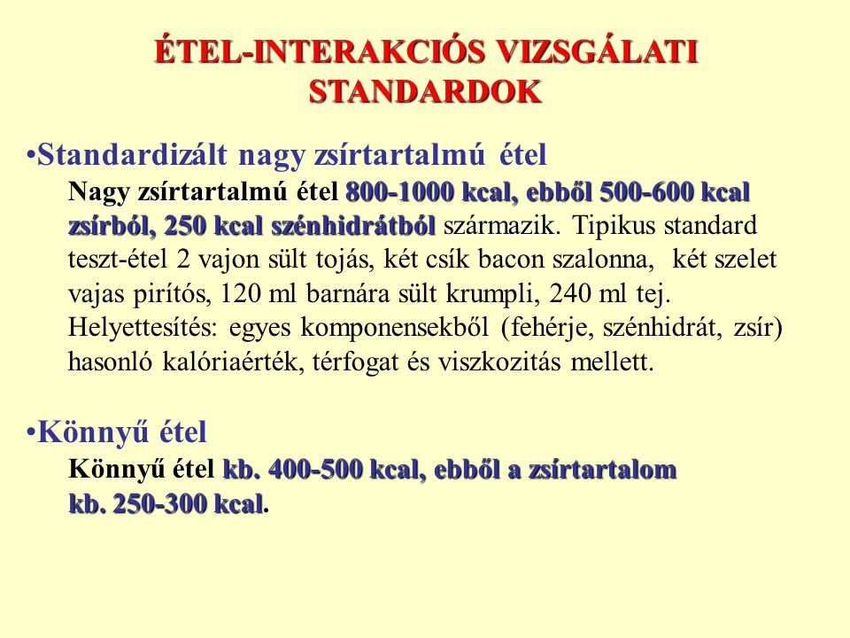 ÉTEL-INTERAKCIÓS VIZSGÁLATI