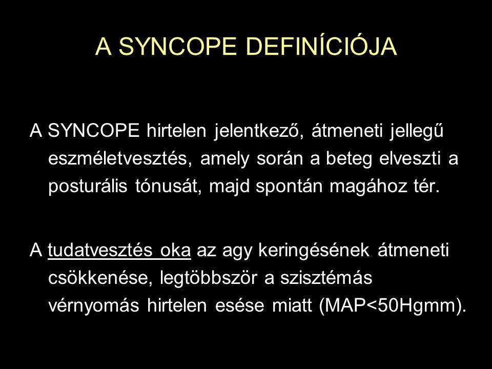A SYNCOPE DEFINÍCIÓJA