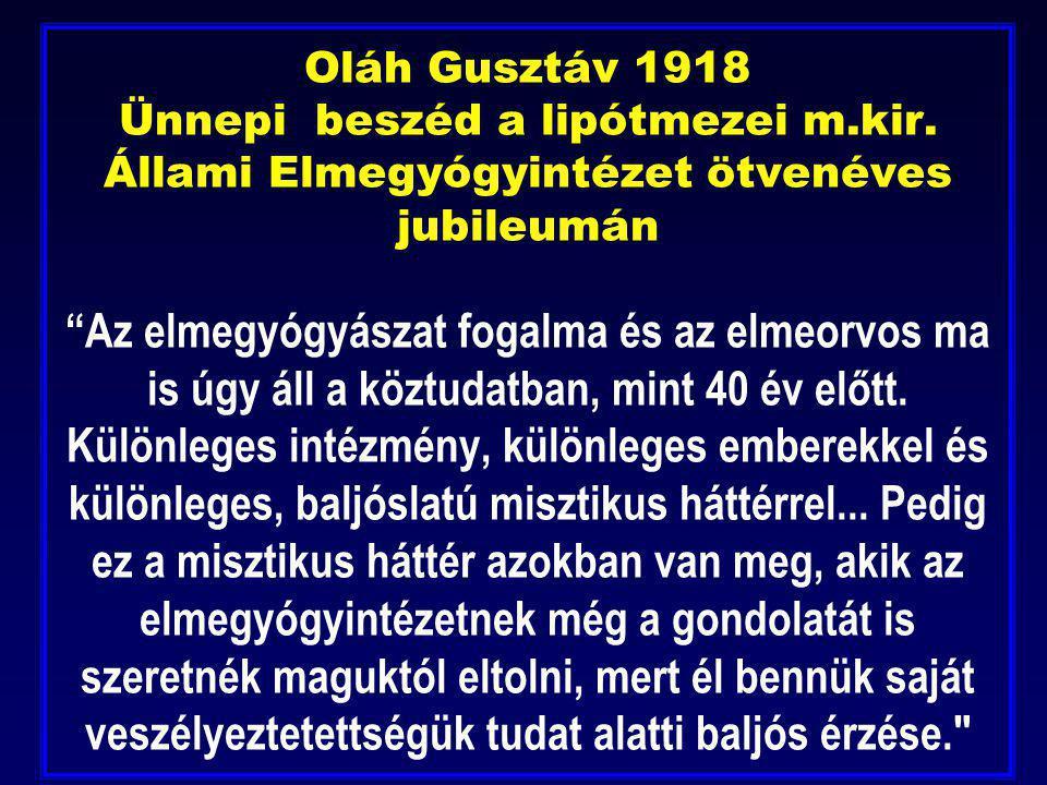 Oláh Gusztáv 1918 Ünnepi beszéd a lipótmezei m. kir