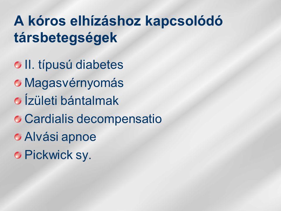 A kóros elhízáshoz kapcsolódó társbetegségek
