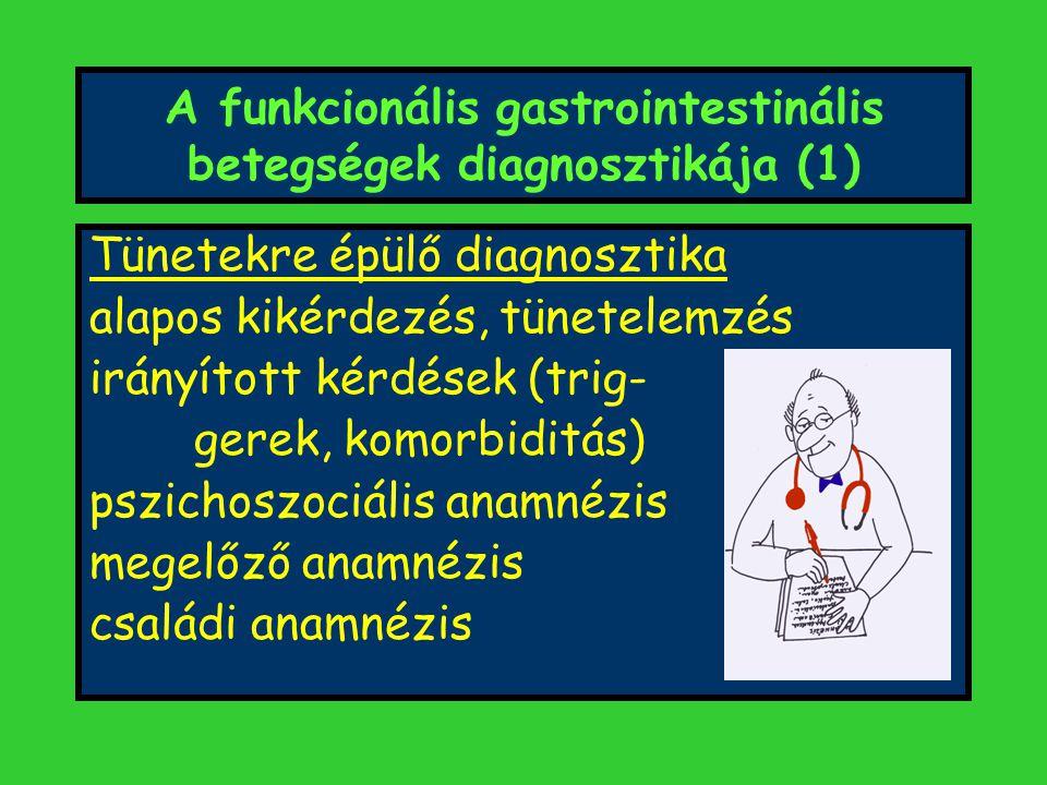 A funkcionális gastrointestinális betegségek diagnosztikája (1)