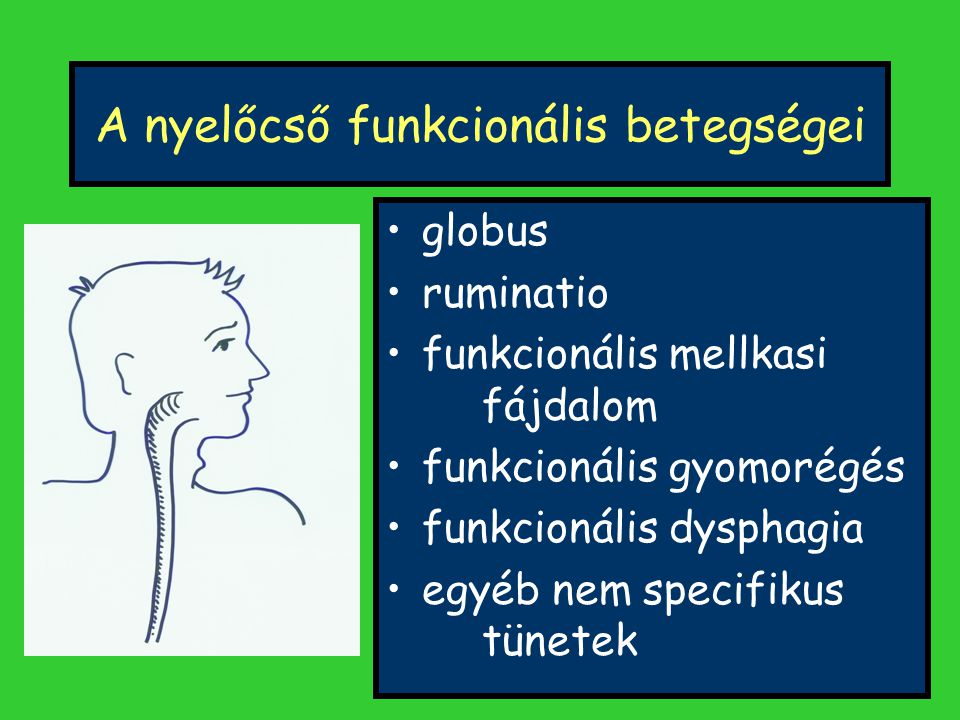 A nyelőcső funkcionális betegségei