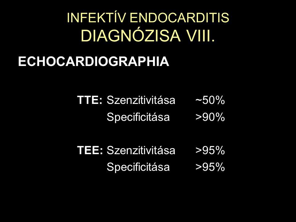 INFEKTÍV ENDOCARDITIS DIAGNÓZISA VIII.